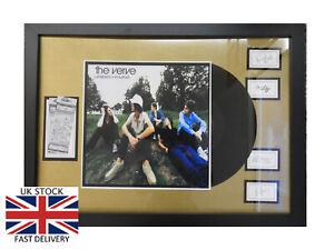 THE-VERVE-Bitter-Sweet-Framed-12-034-VINYL-LP-Tickets-amp-Band-Autographs-MEMORABILIA