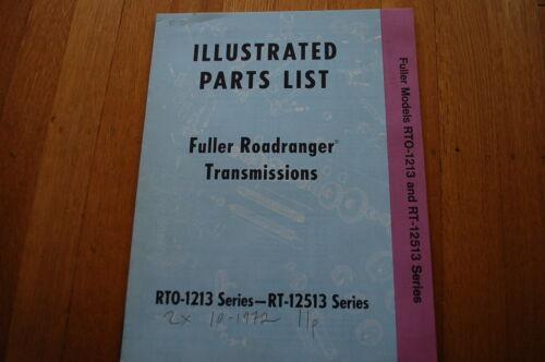 EATON FULLER TRANSMISSION ROADRANGER Parts Manual book catalog shop truck spare