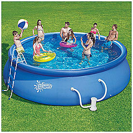 Summer escapes quick easy set up above ground swimming for Above ground pools quick set