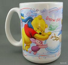Coffee Mug Disney Snow Day Time For Play Pooh Tigger Eeyore Piglet Snowman 12oz