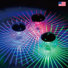 Intex 28690E Solar Powered LED Floating Pool Night Light Auto On Color Changing