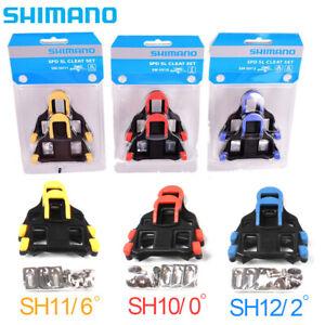 SHIMANO For Bike Float Fixed SPD-SL Road Bike Pedal SM-SH10//11//12 Cleat Set CMT