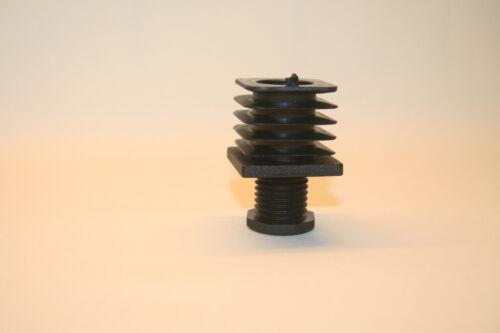 Lamellenstopfen Schraub-Fußkappen Vierkantrohre 35x35 Kunststoff Stellfüße JL35S