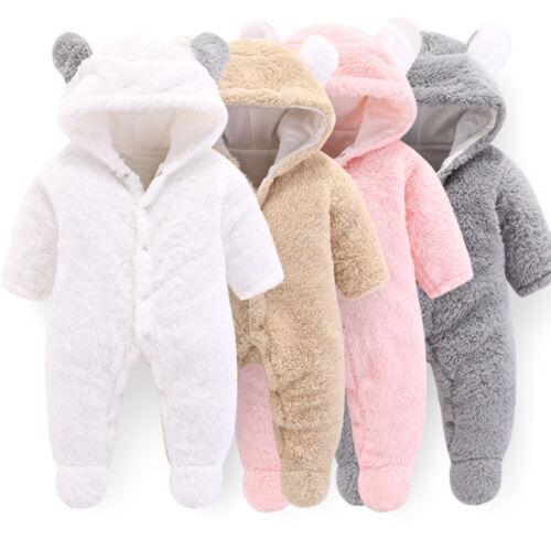 Overalls Winter Snowsuit For Baby Girls Coat Infant Jumpsuit Warm Newborn Romper