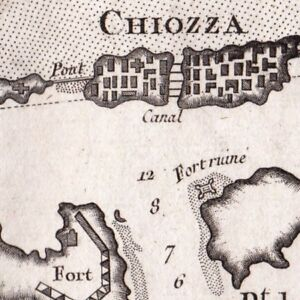 Carte-Geographique-XVIIIe-Venise-Brondolo-Chioggia-Port-Chioggia-Venetie-1764