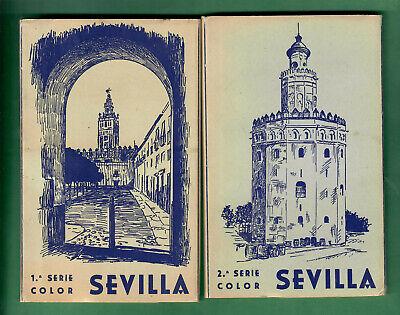 Antique postcards set booklet  from Sevilla Spain.