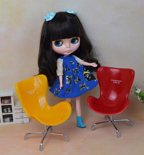 "12/"" Neo Blythe Doll from Factory Black Hair Nude Doll JSW32010-4"
