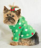 Xxxs Christmas Dots Fleece Dog Hoodie Clothes Shirt Pet Apparel Pc Dog®