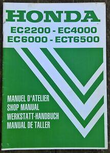 Genuine Honda EC2200 EC4000 EC6000 ECT6500 Service Repair Shop Manual 66ZD5F20