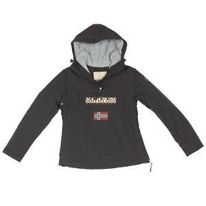 NAPAPIJRI-Black-Fleece-Lined-Winter-Coat-Jacket-Men-039-s-size-Small