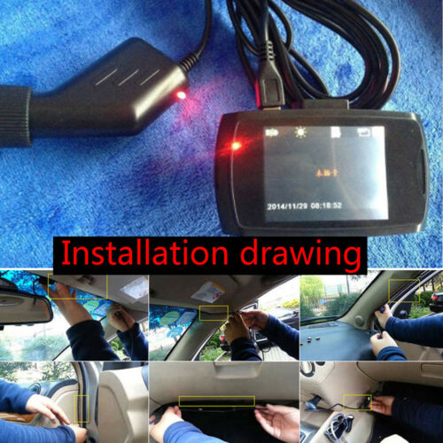 Mini USB DC Car Charger Adapter Power Cable For Car Dash Cam DVR GPS Speedy