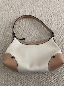 bd09236b0e ... uk image is loading mulberry cream and tan scotchgrain shoulder bag  genuine 126ba 674f8