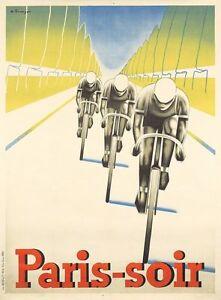 Vintage Paris Tour de France Cycling Poster A3 Print