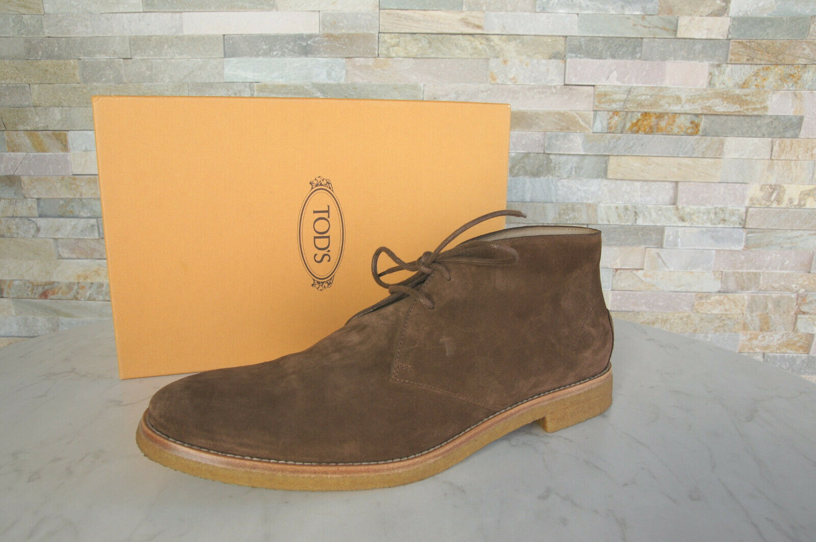 TOD`S Tods 44,5 10,5 Lace up Ankle Boots Rt shoes Brown New Formerly Rrp