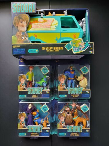 Set of 5 2020 Scooby-Doo Scoob Mystery Machine Lights and Sound Basic Fun