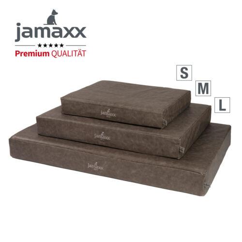 Jamaxx premium perros-colchón imitación cuero vintage gris ortopedia Memory visco