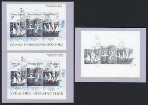 Finnland-1798-00-Schweden-2528-30-Joint-Issue-Schwarzdruck-Sveaborg-rar