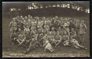 WW1-SOLDIERS-MEDAL-RECIPIENTS-DIFFERENT-CORPS-REGIMENTS-ANTIQUE-PHOTO-POSTCARD