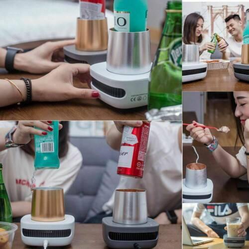 Cupcooler Drinks Beverage Cooler Extreme Fast Cooling Portable USB Refrigerator