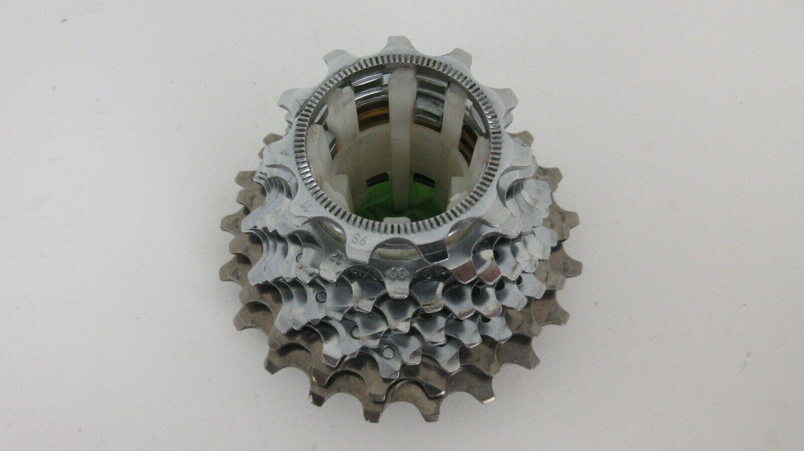Muy Buen Estado Campagnolo Record 9 velocidad de titanio Exa unidad Road Cassette, 11-21 dientes