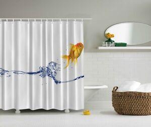 Image Is Loading Under The Sea Goldfish Digital Print Shower Curtain
