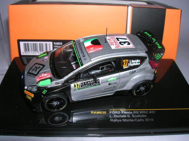 Ixo Ford Fiesta R5 WRC Rallye Monte-Carlo 2016 Bertelli/Scattolin #37, 1:43