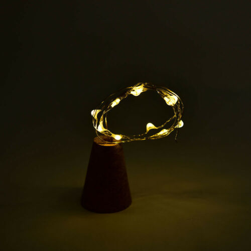nacht wein flasche lampe 15led string kork aus licht sternenhimmel kupfer