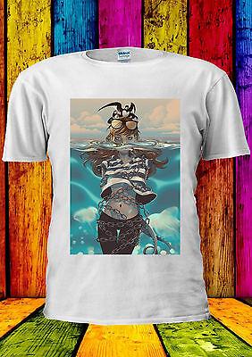 Funny Girl Drawing Seagull Sea T-shirt Vest Tank Top Men Women Unisex 2228