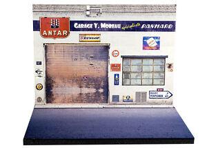 Diorama Présentoir Panhard - Garage Y. Moreau - 1/43ème - #43-2-a-a-002
