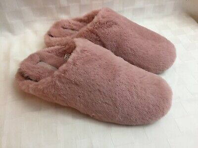 FitFlop Furry Slippers Rose Womens 11