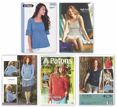 PATONS Ladies KNITTING PATTERN + BOOK Sweater Wrap Lace Top Jacket 4 PLY COTTON | eBay
