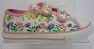 Girlss LR Agata Bean Pump blanco lona rosa de Fila de Snap bomba Riptape Low de Zapato wUPqaOIq