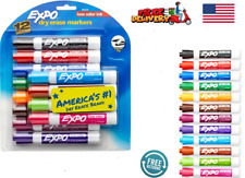 New Listingexpo Low Odor Dry Erase Markers Chisel Tip Assorted Colors 12 Count
