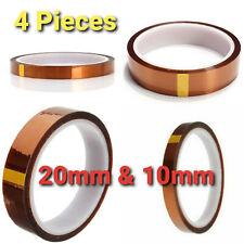 4 Rolls 20mm Amp 10mm X 100ft Heat Resistant Tape Sublimation Press Transfer Tape
