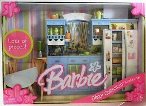 Barbie Kitchen Set Decor Collection New Ebay
