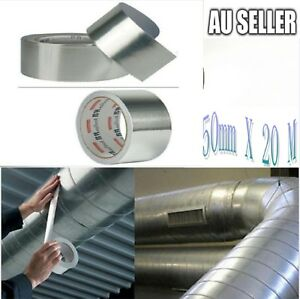 10-X-Aluminium-Silver-Foil-Tape-Insulation-Heating-Duct-50mm-x-20m-AU-2018