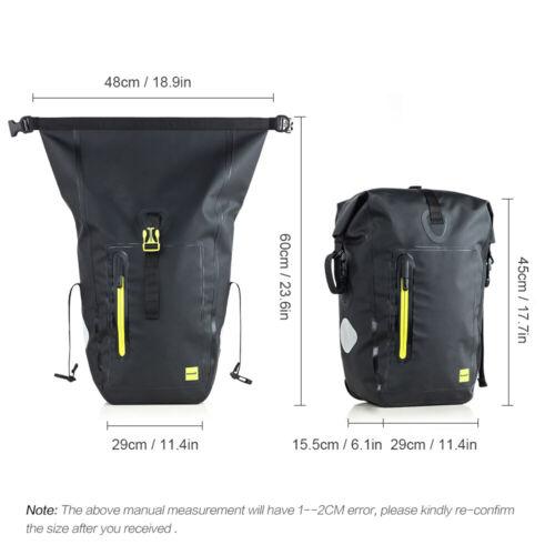 25L Waterproof Bike Bicycle Rear Rack Pannier Bag Rear Seat Shoulder Bag QA S2B0