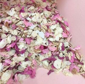 Biodegradable-WEDDING-CONFETTI-Pink-Rose-Gold-Ivory-Dried-FLUTTERFALL-Petals