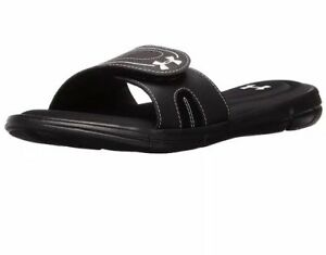 new release top-rated fashion 2019 hot sale Details about Women Under Armour Ignite VIII Slide Sandals Memory Foam  Padded Black 1287319