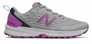 New Balance Women's NITREL v3 Trail Shoes Grey with Purple