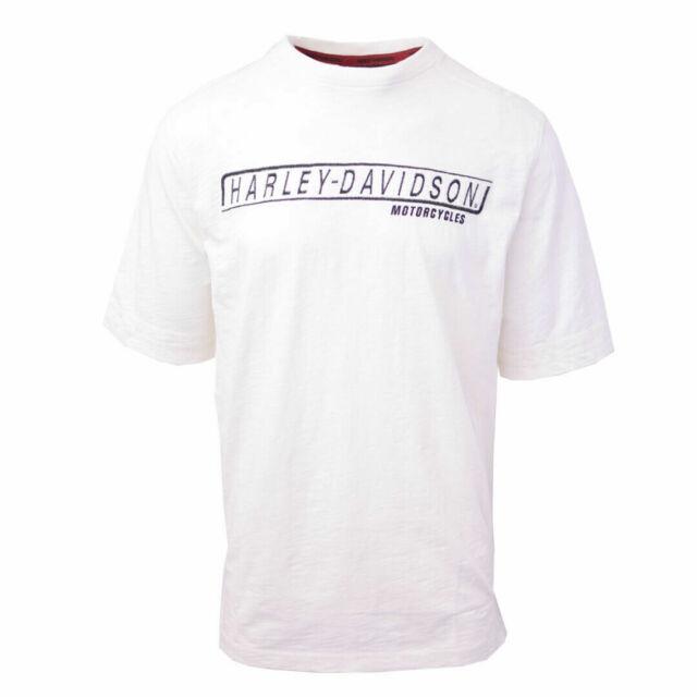 Harley-Davidson Men's Box Logo Cream White S/S Tee (Retail $60)