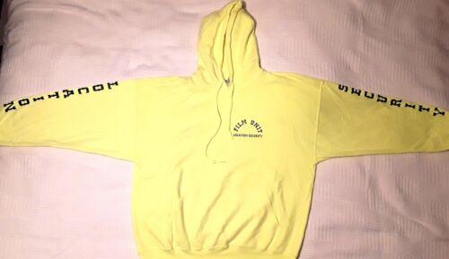 amarilla Unidad X Shrunk Sudadera de grande Blanco Escritura Gildan Seguridad Negro con pelᄄᆰcula Pre amarilla capucha Grande negra Grande grande X Ubicaciᄄᆴn 6qgr6T