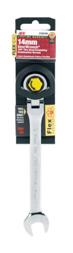 NEW ACE Pro Series Gearwrench 14mm Ratcheting Flex Head Combination 2193159