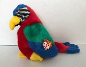 """1999 TY BEANIE BUDDY COLLECTION 11/"""" JABBAR THE COLORFUL PARROT"""