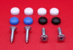 Kennzeichen-Schrauben-Set-4-8-x-19-mm-Nummernschild-Halterung-Kappen-PKW-LKW
