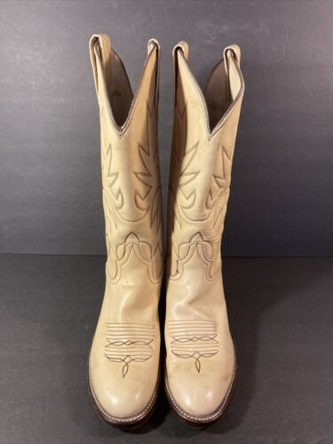 Men\u2019s Vintage Blonde Leather Cowboy Boots