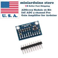 Ads1115 Module 16 Bit I2c Adc 4 Channel Pro Gain Amplifier Arduino Raspberrypi
