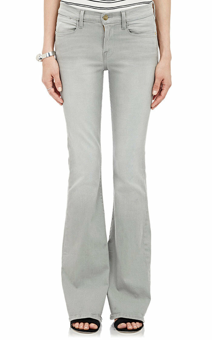 FRAME DENIM Le High Flare Mid Rise Slim Flared Jeans Pants Hardy Grey 24  240