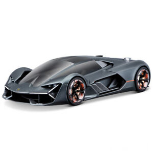 Bburago-1-24-Lamborghini-Terzo-Millennio-Black-Diecast-Racing-Car-Model-IN-BOX