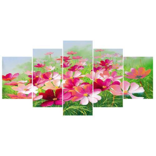 5pcs 5D DIY Full Drill Diamond Painting Flower Embroidery Mosaic Craft Kit Decor